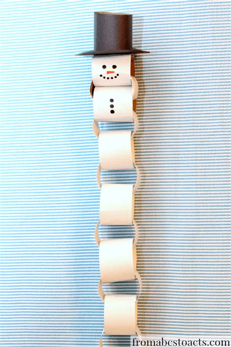How To Make Paper Snowman Chain - paper chain snowman countdown from abcs to acts