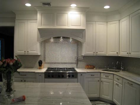 glass backsplash traditional kitchen