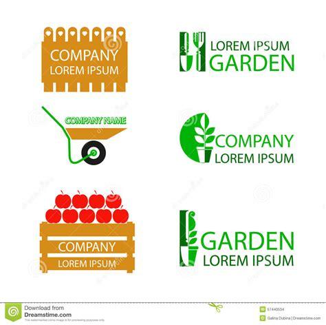 Gardening Company Logos A Set Of Garden Logos Stock Vector Image 57440534