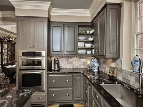 Gray Painted Kitchen Cabinets by C B I D Home Decor And Design 10 14