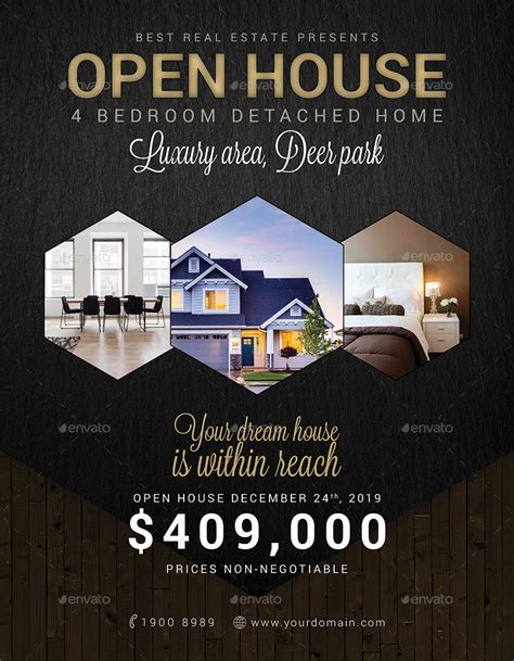 real estate open house template real estate open house flyer by tunagaga graphicriver