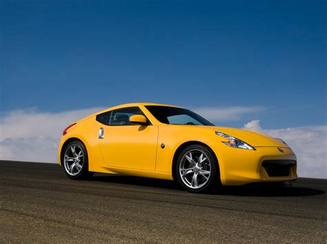 nissan yellow 2009 nissan 370z yellow front and side 1600x1200