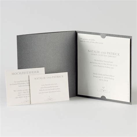 Hochzeitseinladungen Grau by Hochzeitseinladung Quot Ella Quot Elegante Einladungskarte In