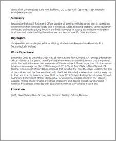 Enforcement Officer Cover Letter by Professional Parking Enforcement Officer Templates To