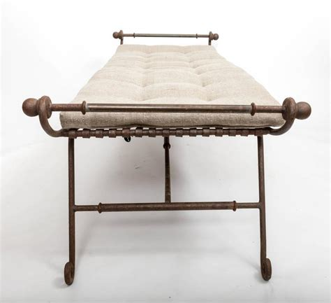 iron bed bench turn of the century brass and wrought iron day bed or