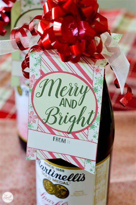printable christmas bottle tags  craft eat
