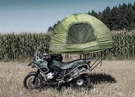 mobed motorcycle mounted tent