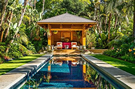 Small A Frame House by 25 Spectacular Tropical Pool Landscaping Ideas