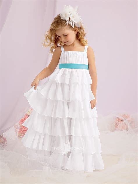 Wst 14394 Blue Flower Dress cutie pie flower dresses bridesmaid dresses