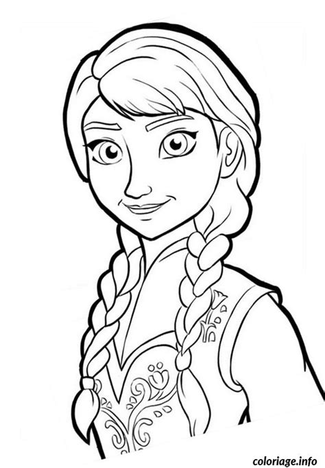 Coloriage Dessin Reine Neige Disney Anna Portrait Dessin Coloriage Walt Disney A Imprimer Gratuitement L