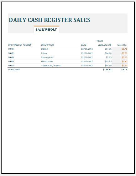 Daily Revenue Report Excel Template Daily Revenue Spreadsheet Template Ms Excel Excel Templates