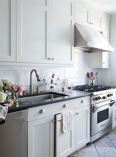 white kitchen cabinets with brushed nickel hardware lilly bunn interior kitchens white shaker kitchen