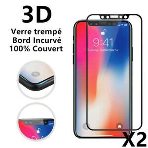 verre tremp 233 int 233 gral protection 233 cran iphone xs max x xr 6 7 8 3d glass ebay
