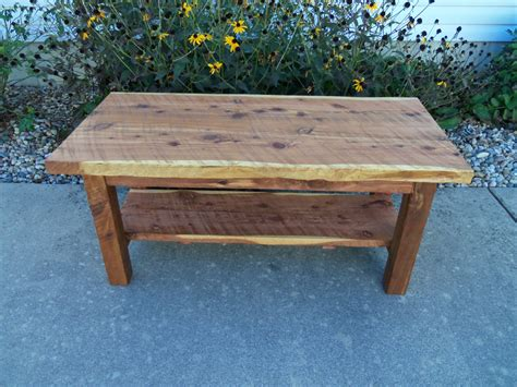 cedar coffee table sawn lumber by smithborowoodworks