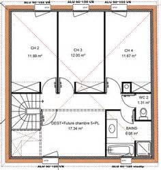 plan 110m2 4 chambres etage ventana