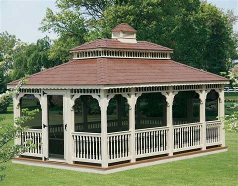 gazebo cupola vinyl roof rectangle gazebos gazebos by style