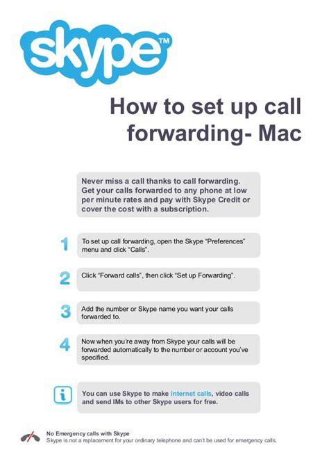forwarding mac how to set up call forwarding mac