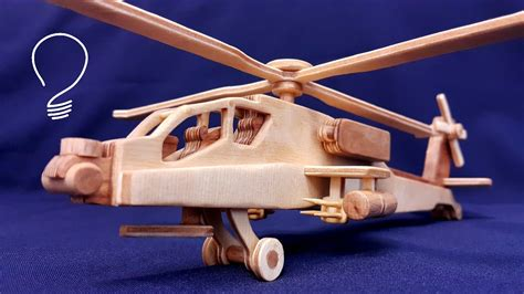 wooden helicopter ah  apache youtube