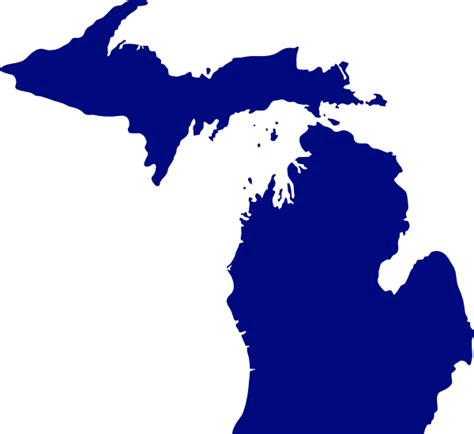 Outline Of Michigan State by State Of Michigan Clip At Clker Vector Clip Royalty Free Domain