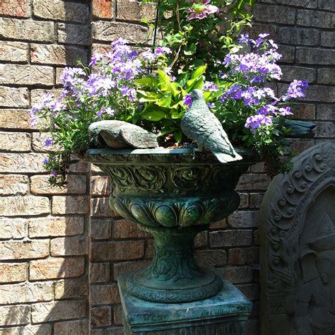 Vase Fountains by Cast Bronze Birds Of Seven On Vase Metropolitan