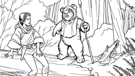 ewok coloring pages coloring home