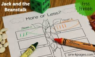 more or less jack and the beanstalk activity