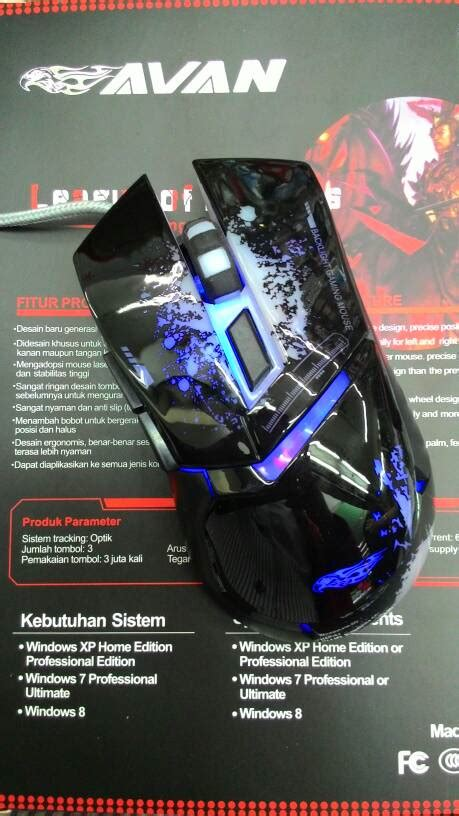 jual avan g1 mouse gaming 6 button mouse huzky computama