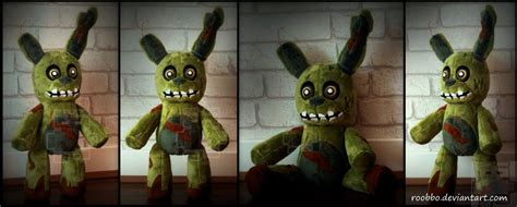 springtrap plush five nights at freddy springtrap plush by roobbo on