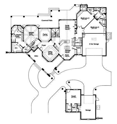 House Plans With Detached Guest Cottage House Plans Detached Guest Suite