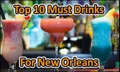 Top 10 Drinks To Order At A Bar by Map Of New Orleans New Orleans Tourist Map See Map