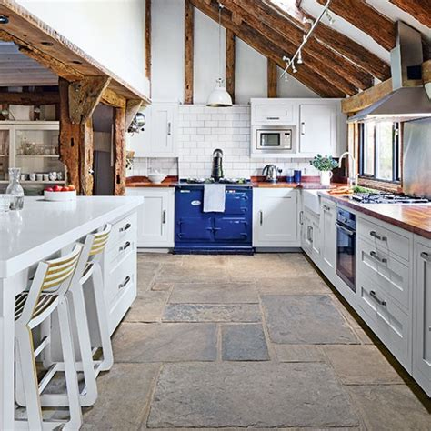 country kitchen with stone flooring decorating housetohome co uk