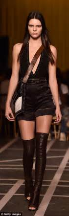 Kendall Jenner Detox Tea Brand by In Jumpsuit At Givenchy Show For