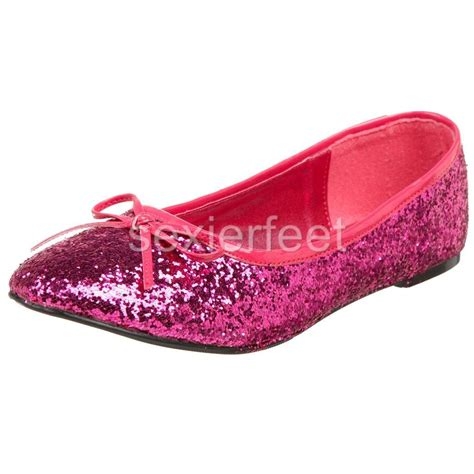 glitter shoes flats pleaser s glitter flats shoes star16g