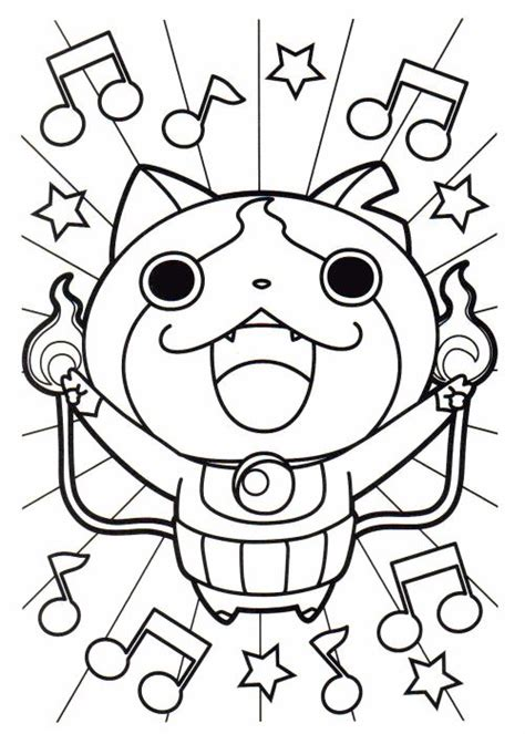 coloring pages of yokai 17 best new youkai watch coloring pictures images on
