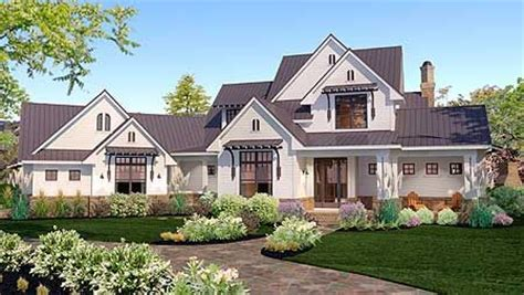 modern farmhouse elevations plan 16853wg elegant farmhouse living 3 car garage