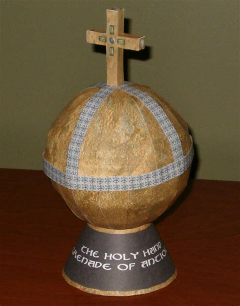 Papercraft Grenade - holy grenade papercraft by tektonten on deviantart