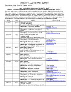 business travel itinerary template best photos of business itinerary template business