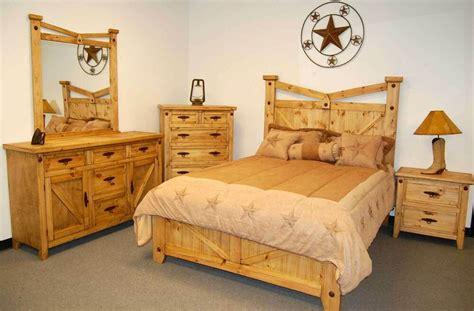 rustic santa fe bedroom set king bed real wood western cabin lodge southwest ebay