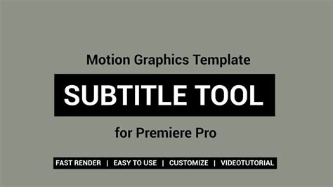 Subtitle Tool Motion Graphics Templates Motion Array Motion Template Tool