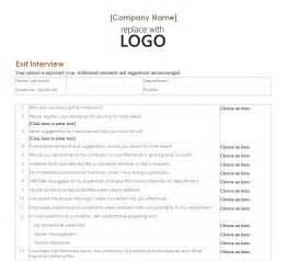employee exit interview employee exit interview form