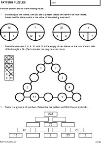 pattern math puzzles word problems worksheets by math crush