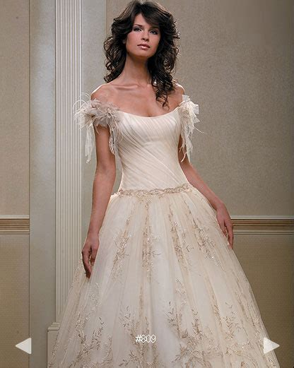 classic embroidered silk wedding gown sang maestro