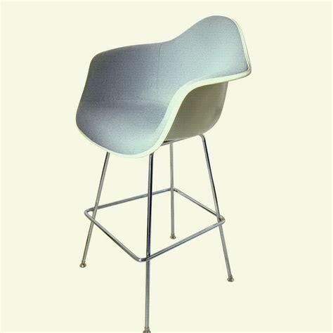 Gray Stools by 1 Vintage Eames Grey Blue Fabric Fiberglass Armchair