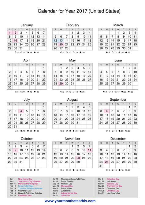 Local Calendar 2017 Calendar