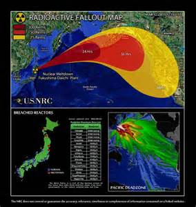 us map nuclear fallout fukushima daiichi nuclear plant after spike in radiation