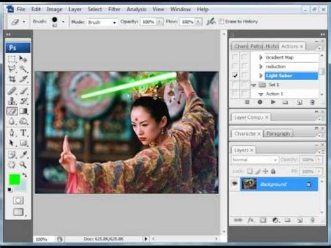 lightsaber tutorial photoshop cs5 photoshop tutorial lightsaber effect doovi