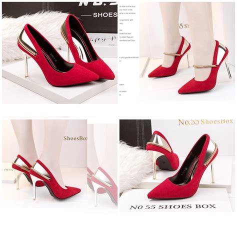 Sepatu Wedges Wanita 10cm On04 jual shh51583 sepatu heels suede wanita 10cm