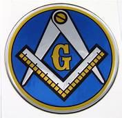 Masonic Emblems  Chrome Auto