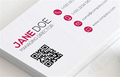 business card with qr code template 17 best ideas about qr code business card on