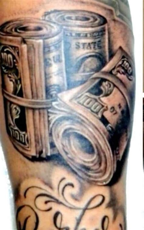money stack tattoo designs money tattoos meanings and design inkdoneright
